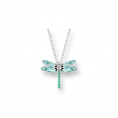 Sterling Dragonfly Necklace