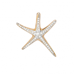 Diamond Starfish Pendant