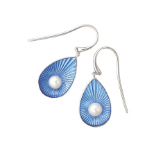 Sterling Blue Teardrop Earrings