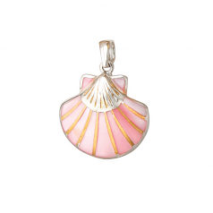 Sterling Scallop Pendant