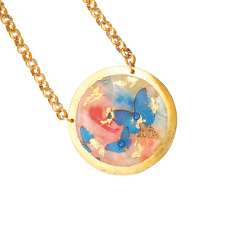 """Butterfly Sunset"" Necklace by Evocateur"