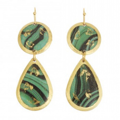 """Malachite Mini"" Earrings by Evocateur"