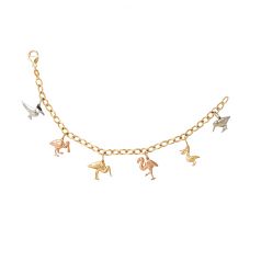 Birds of Sanibel Charm Bracelet