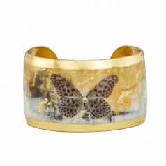 """Gold Rush Butterfly"" Cuff by Evocateur"