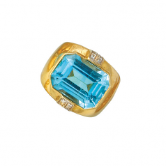 Estate Blue Topaz Ring