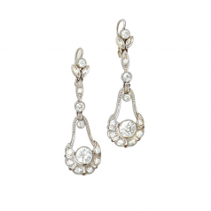 Estate Edwardian Diamond Earrings