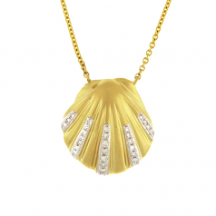 Diamond Scallop Necklace