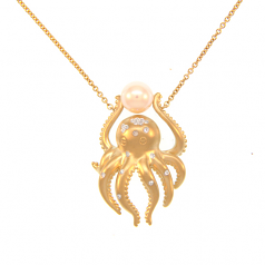 Diamond Octopus Necklace