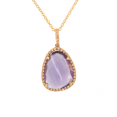 Diamond and Amethyst Necklace