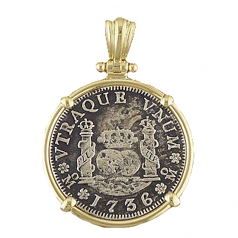 Spanish Two Reale Silver Coin Pendant