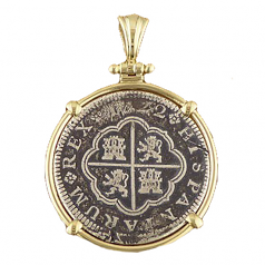 Spanish Cross Silver Coin - 2 Reale