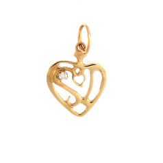 """I Love Sanibel Island"" Heart Charm"