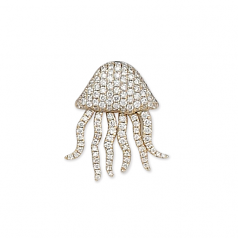Diamond Jellyfish Pendant