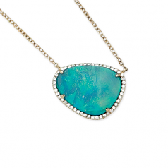 Diamond and Black Opal Necklace