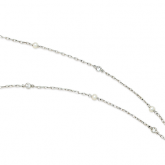 Estate Pearl and Diamond Chain