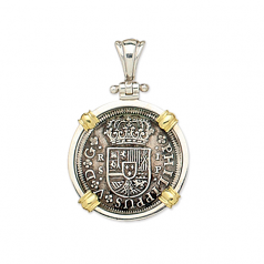 Spanish Cross Silver Coin - 1 Reale