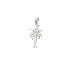 Diamond Palm Tree Pendant