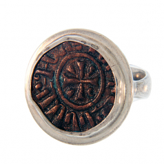 Ancient Armenian Copper Kardez Coin Ring