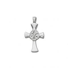 Sterling Sanddollar Cross Pendant