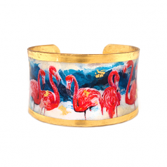 """""""Pink Flamingos"""" Corset Cuff by Evocateur"""