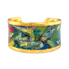 """""""Rainbow Turtle"""" Corset Cuff by Evocateur"""