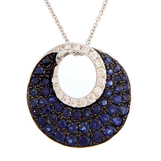 Sapphire circle necklace mozeypictures Image collections