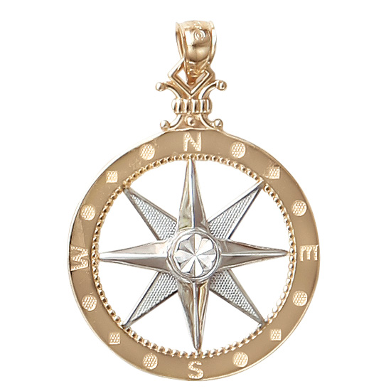 Sea life charms necklaces and pendants inspired by the beach and sea compass rose pendant aloadofball Choice Image