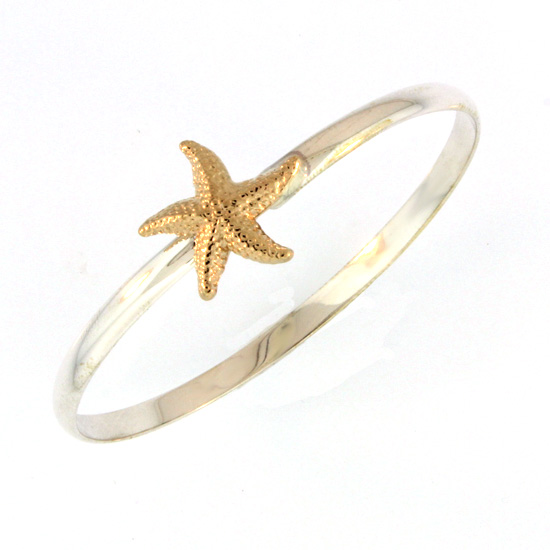 Sterling And Gold Starfish Bracelet