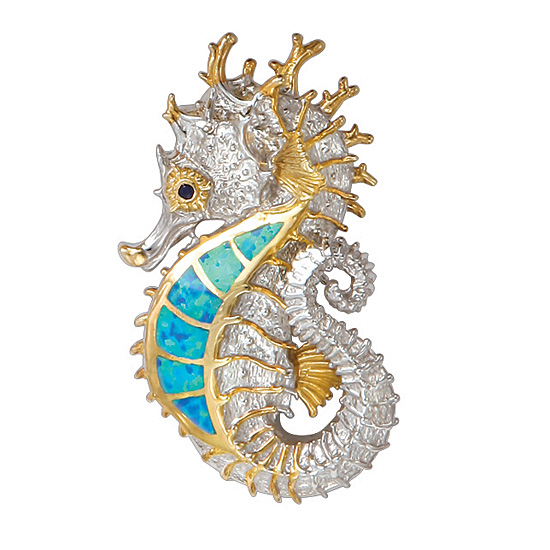 Seahorse pendant by kovel seahorse jewelry for sale from cedar seahorse pendant by kovel aloadofball Image collections