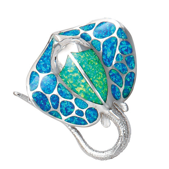 Sea life charms necklaces and pendants inspired by the beach and sea stingray pendant mozeypictures Images
