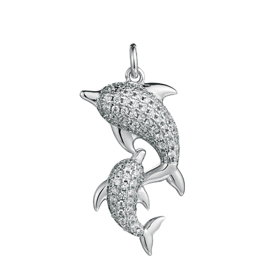 Sterling Dolphin Pendant