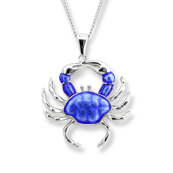 Sterling Crab Necklace
