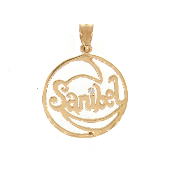 Diamond Sanibel Wave Pendant