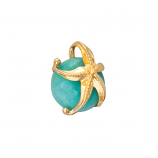 Gold Starfish on Amazonite Pendant
