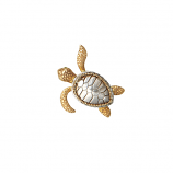 Sterling and Gold Turtle Pendant