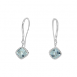 Aqua and Diamond Earrings