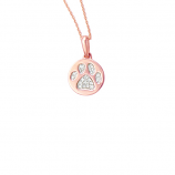 Diamond Pawprint Necklace