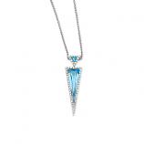 Diamond and Blue Topaz Necklace