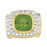 Estate Diamond and Peridot Ring