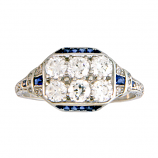 Estate Diamond and Sapphire Ring
