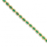 Estate Emerald and Diamond Bracelet