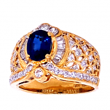 Estate Sapphire and Diamond Ring