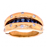 Estate Diamond and Sapphire Convertible Ring