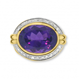 Estate Diamond and Amethyst Ring