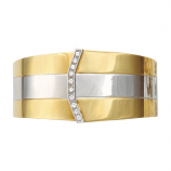 18Kt Two-Tone Estate Cuff with Diamonds