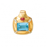 **SOLD** Estate Blue Topaz Pendant/Slide