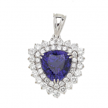 Estate Tanzanite and Diamond Pendant