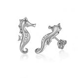 Sterling Seahorse Earrings