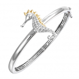 Sterling Seahorse Bangle Bracelet