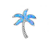 Sterling Opal Palm Tree Pendant
